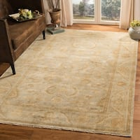 Safavieh Couture Hand-Knotted Oushak Traditional Light Blue Wool Rug (9' x 12') - 9' x 12'