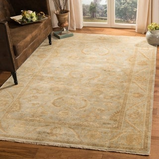 Safavieh Couture Hand-knotted Oushak Sissi Traditional Oriental Wool Rug with Fringe