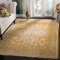 Safavieh Couture Hand-Knotted Oushak Traditional Gold / Brown Wool Rug - 9' x 12'