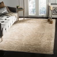 Safavieh Couture Hand-Knotted Oushak Traditional Grey / Grey Viscose Rug - 9' x 12'