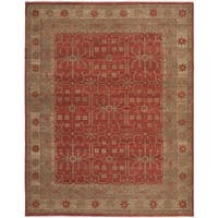 Safavieh Couture Hand-Knotted Oushak Traditional Red Wool Rug - 9' x 12'