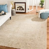 Safavieh Couture Hand-Knotted Sultanabad Traditional Beige Wool Rug - 9' x 12'