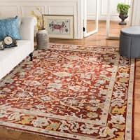 Safavieh Couture Hand-Knotted Sultanabad Traditional Rust Wool Rug - 9' x 12'