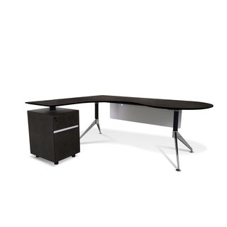 Professional Executive Teardrop Left Pedestal Desk