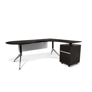 Professional Executive Teardrop Right Pedestal Desk