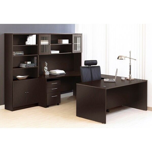 Executive U-shaped Desk and Right Hutch