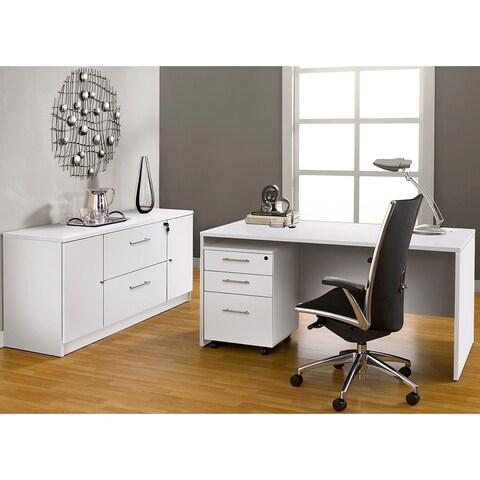Premium Pro Executive Office Desk with Storage Filing Credenza