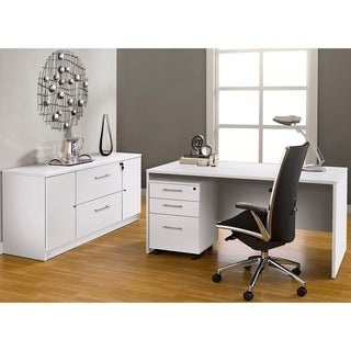 Premium Pro Executive Office Desk with Storage Filing Credenza