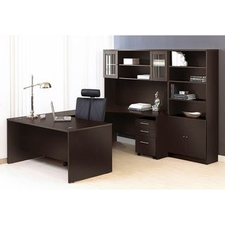 Premium Pro Executive U-shaped Desk and Hutch