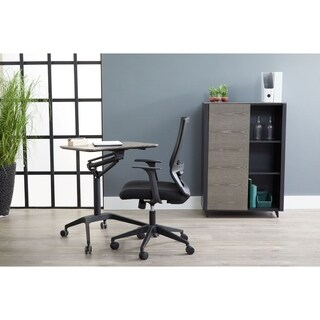 Pro Grey Adjustable Standing Desk - Sit and stand Laptop Table