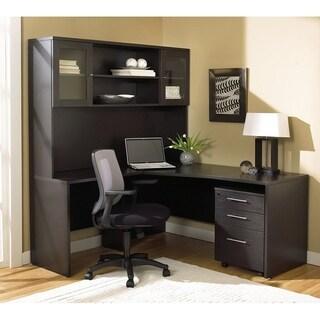 Premium Pro Corner L-shaped Desk and Hutch
