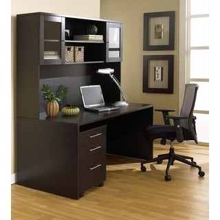 Executive Office Desk and Hutch