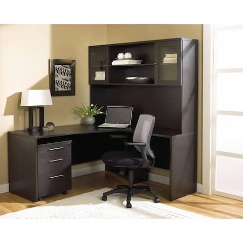 Corner L-shaped Desk and Mobile Pedestal