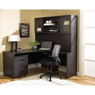 Corner L-shaped Desk and Mobile Pedestal