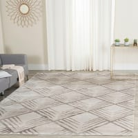 Safavieh Couture Hand-Knotted Tibetan Contemporary Silver Viscose & Cotton Rug - 9' x 12'