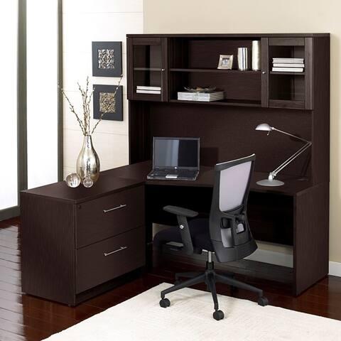 Premium Pro Corner L-shaped Desk with Hutch