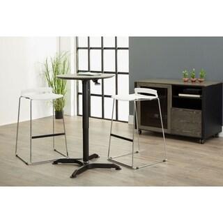 Grey Height Adjustable Steel Standing Table