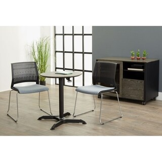 Grey Height Adjustable Standing Table
