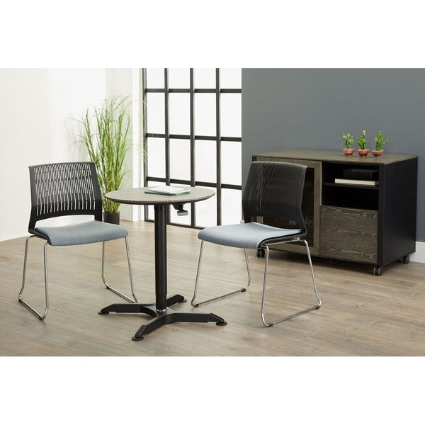 Round Height Adjustable Standing Meeting Table