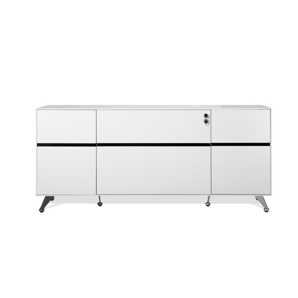 Shop White Executive Modern Storage Filing Credenza - On Sale - Free on filing door, filing bench, filing shelf,