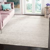 Safavieh Couture Hand-Knotted Tibetan Contemporary Grey Viscose & Wool Rug - 9' x 12'