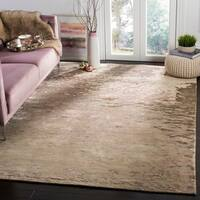 Safavieh Couture Hand-Knotted Tibetan Contemporary Beige Wool & Viscose Rug - 9' x 12'