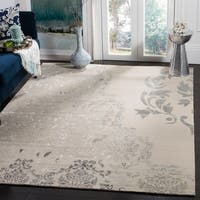 Safavieh Couture Hand-Knotted Tibetan Contemporary Beige / Grey Wool & Cotton Rug - 9' x 12'