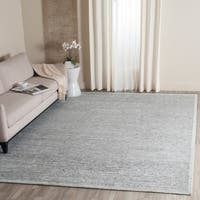 Safavieh Couture Hand-Spun Tibetan Contemporary Grey Rayon & Wool Rug - 9' x 12'