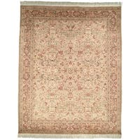 Safavieh Couture Hand-Knotted Versailles Vintage Ivory / Brown Wool Rug (9' x 12')