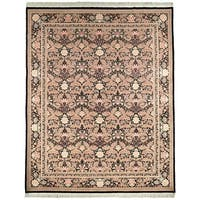 Safavieh Couture Hand-Knotted Versailles Vintage Ivory / Black Wool Rug - 9' x 12'