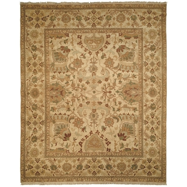 Safavieh Couture Hand-knotted Ziegler Mahal Manelle Traditional Oriental Wool Rug with Fringe