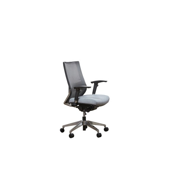 Bordeaux Fully Ergonomic Grey Mesh Mid Back Executive Chair