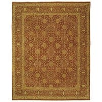 Safavieh Couture Hand-Knotted Haj Jalili Traditional Rust / Rust Wool Rug - 10' x 14'