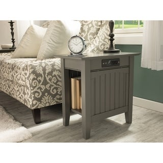 Link to Nantucket Chair Side Table with Charger Atlantic Grey Similar Items in Living Room Furniture