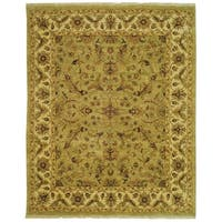 Safavieh Couture Hand-Knotted Moharaja Classic Green / Ivory Wool Rug - 10' x 14'