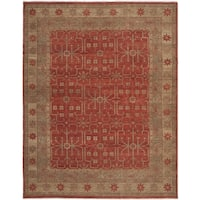 Safavieh Couture Hand-Knotted Oushak Traditional Red Wool Rug - 10' x 14'