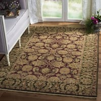 Safavieh Couture Hand-Knotted Old World Vintage Burgundy / Green Wool Rug - 10' x 14'