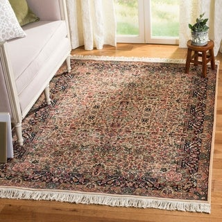 Safavieh Couture Hand-knotted Royal Kerman Dominika Traditional Oriental Wool Rug with Fringe