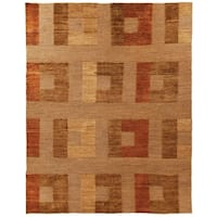 Safavieh Couture Hand-Knotted Santa Fe Transitional Dark Beig Wool Rug - 10' x 14'