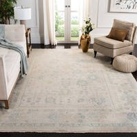 Safavieh Couture Hand-Knotted Sultanabad Traditional Ivory / Blue Wool Rug - 10' x 14'