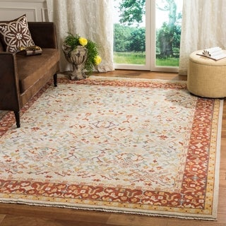 Safavieh Couture Hand-knotted Sultanabad Chiharu Traditional Oriental Wool Rug with Fringe