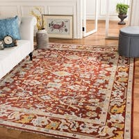 Safavieh Couture Hand-Knotted Sultanabad Traditional Rust Wool Rug - 10' x 14'