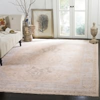 Safavieh Couture Hand-Knotted Sultanabad Traditional Beige / Grey Wool Rug - 10' x 14'
