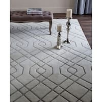 Safavieh Couture Hand-Knotted Tibetan Contemporary White Wool Rug - 10' x 14'