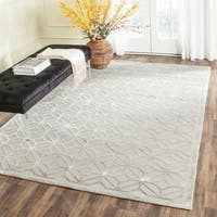 Safavieh Couture Hand-Knotted Tibetan Contemporary Grey Viscose & Wool Rug - 10' x 14'