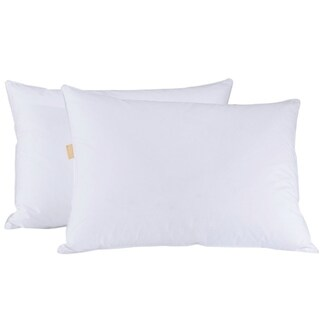 St. James Home Goose Feather and Down Blend Pillow (Set of 2) - White