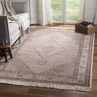 Safavieh Couture Hand-Knotted Tabriz Herati Vintage Ivory / Yellow Silk & Wool Rug - 10' x 14'