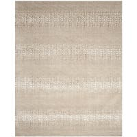 Safavieh Couture Hand-Knotted Casual Camel / Brown Wool & Silk Rug - 10' x 14'