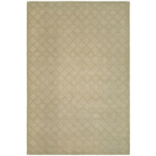 Safavieh Couture Hand-Knotted Contemporary Fawn Wool Rug - 10' x 14'