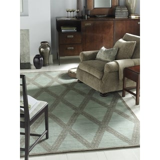 Safavieh Couture Hand-Knotted Contemporary Ocean Wool Rug (10' x 14')